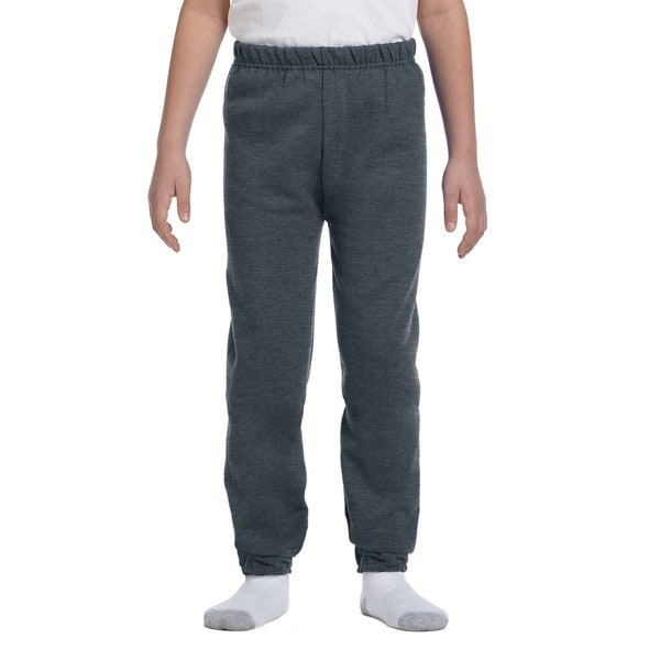 Nublend Boys' Black Polyester Heather Sweatpants