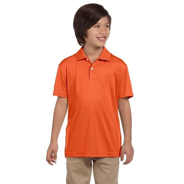 Boys' Orange Polyester Double Mesh Team Sport T-shirt