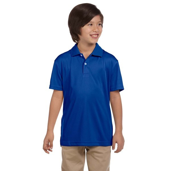 Boys' True Royal Blue Polyester Double Mesh Sport T-shirt