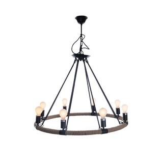 8-bulb Rope Pendant Lamp