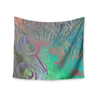 KESS InHouse Alison Coxon 'Indian Summer' Purple Teal Abstract 51x60-inch Tapestry