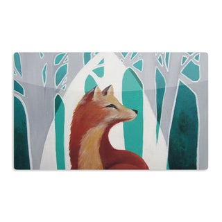 KESS InHouse Lydia Martin 'Fox Forest' Artistic Aluminum Magnet