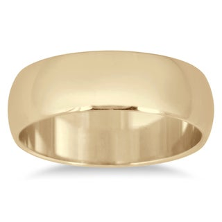 Marquee Jewels 14k Yellow Gold 6-millimeter Domed Wedding Band