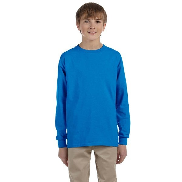 Ultra Cotton Boys' Sapphire Long-Sleeve T-Shirt