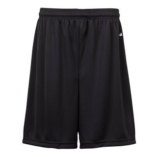 Boys' Black Polyester 7-inch Pocketed Shorts
