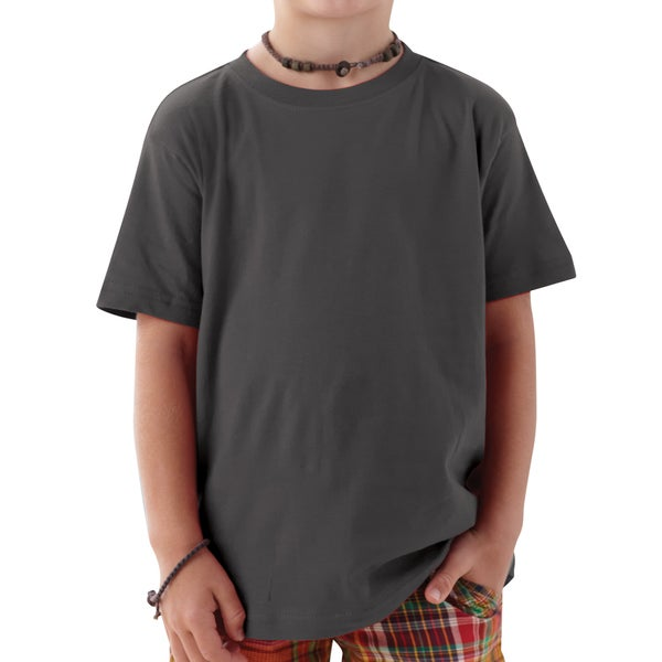 Boys' Charcoal Cotton T-shirt