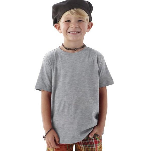 Boys' Grey Cotton T-shirt