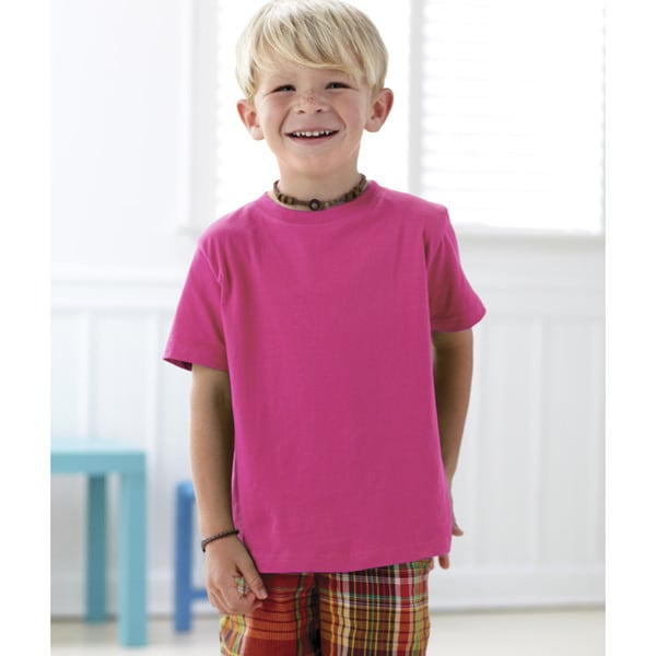 Boys' Hot Pink Cotton T-shirt 19465737