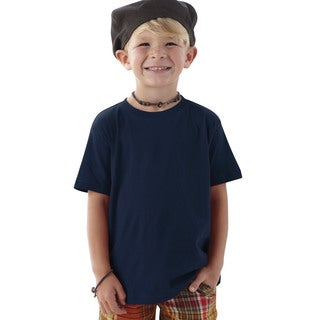 Boys' Navy Cotton T-shirt