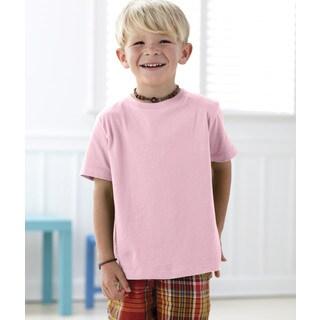 Boys' Pink 4.5-ounce Cotton Fine Jersey T-shirt