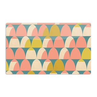 KESS InHouse Michelle Drew 'Scallops' Pink Teal Artistic Aluminum Magnet