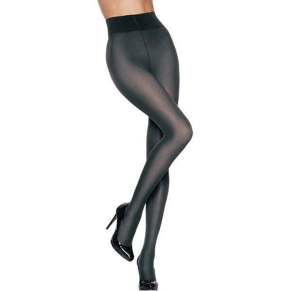 Silk Reflections Women's Luxe High Waist Sheer Tight Grey Pantyhose