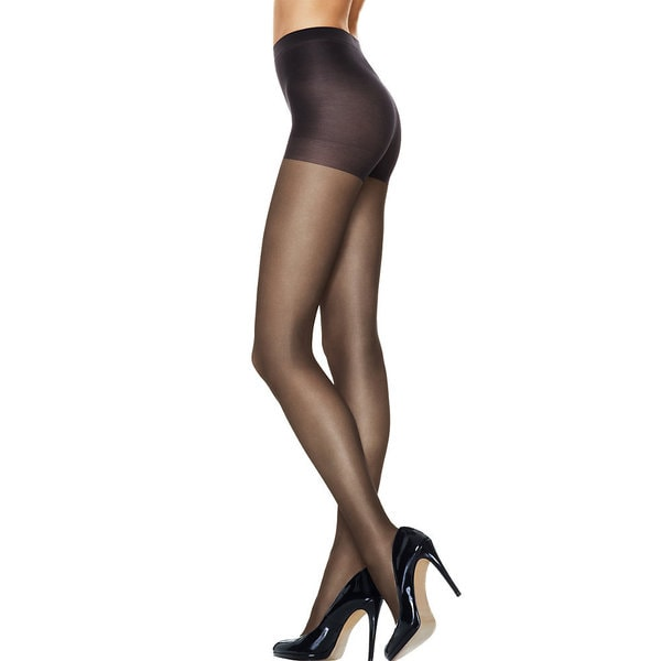 Silk Reflections Women's Run Resistant Sheer Control Top Tights Gentlebrown Pantyhose