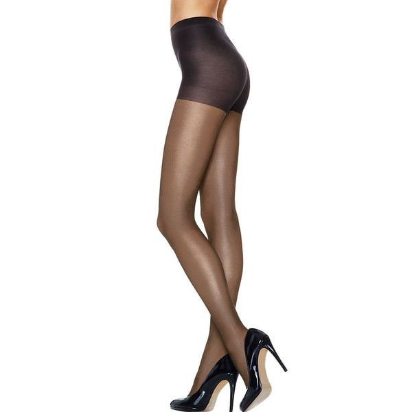 Silk Reflections Women's Run Resistant Sheer Control Top Tights Nude Pantyhose 19466260