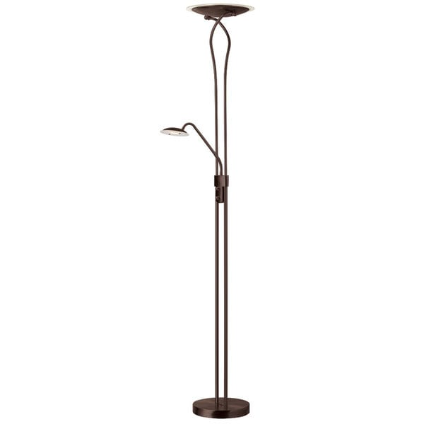 Dainolite 29-watt Mother & Son Bronze Floor Lamp