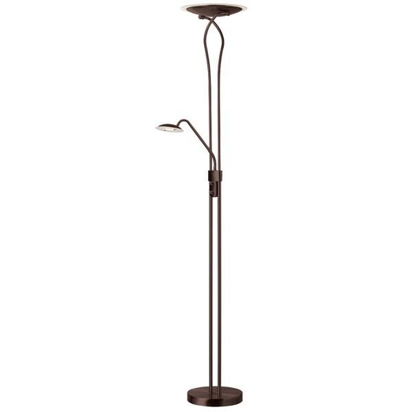 Dainolite 29-watt Mother & Son Bronze Floor Lamp