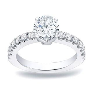 Auriya Platinum 1ct TDW Round-Cut Diamond Engagement Ring (H-I, SI1-SI2)