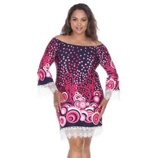 White Mark Women's Lenora Polyester/Spandex Plus-size Dress
