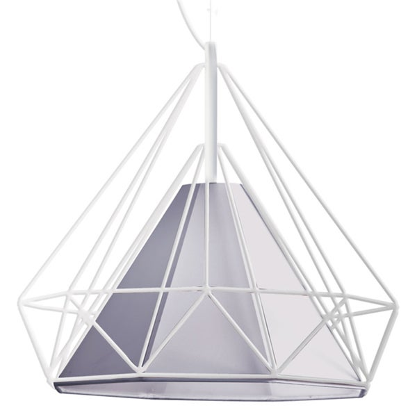Dainolite White Steel 1-light Ceiling Pendant Fixture