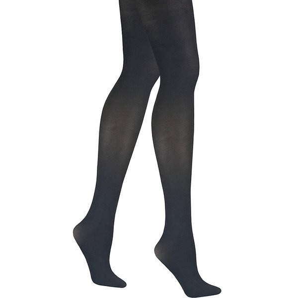 Matte Women's Black Opaque Control Top Tights Pantyhose