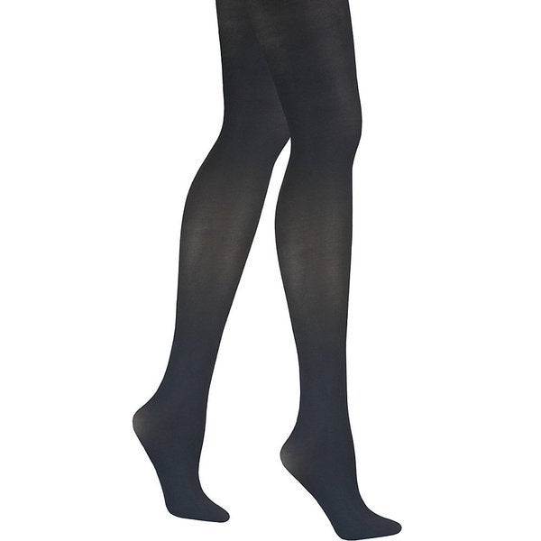 Matte Women's Black Opaque Control Top Tight Pantyhose