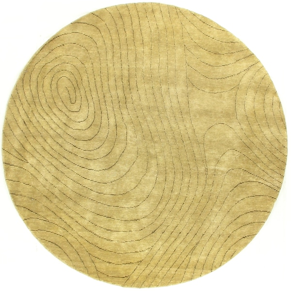 Exquisite Rugs Metropolitan Beige New Zealand Wool Round Rug (6')