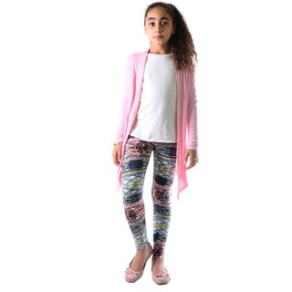 Dinamit Girl's Multicolor Nylon Spandex Patterned Legging