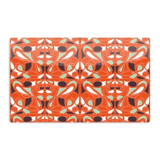 KESS InHouse Miranda Mol 'Orange Swirl Kiss' Artistic Aluminum Magnet