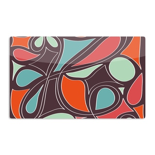 KESS InHouse Miranda Mol 'Retro Swirl' Artistic Aluminum Magnet