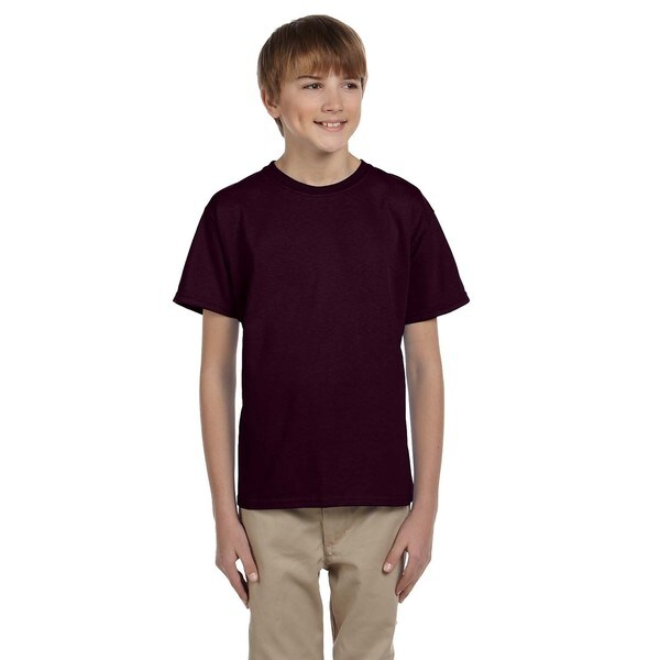 Gildan Boy's Dark Chocolate Cotton Polyester T-Shirt