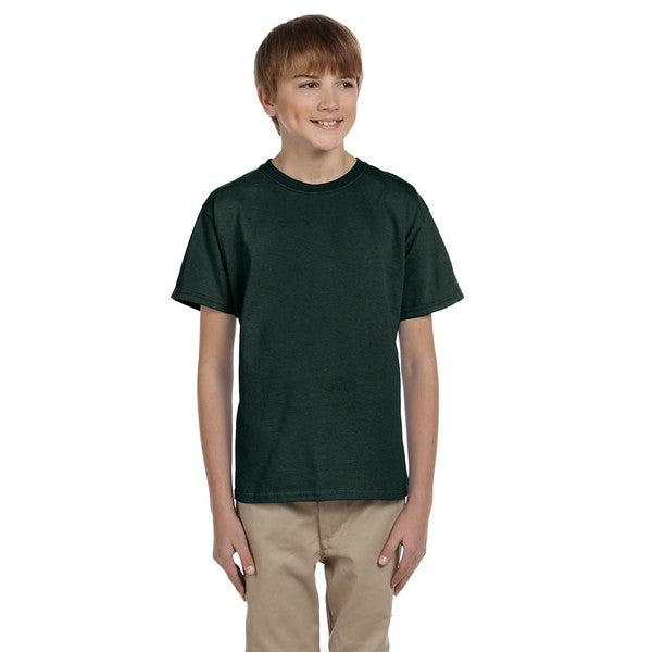 Gildan Boys' Ultra Forest-green Cotton/Polyester T-Shirt