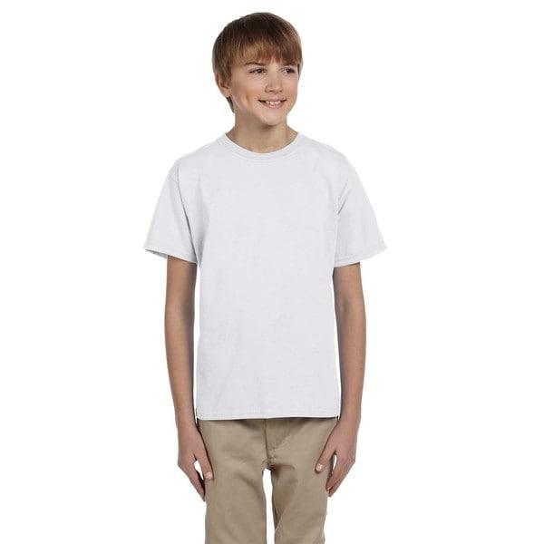 Gildan Boys' Ultra Prepared for Dye Red Polyester/Cotton T-shirt