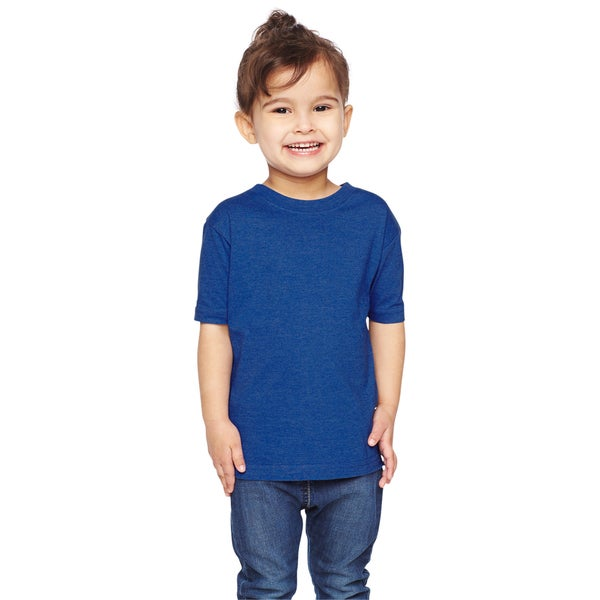 Boys' Royal Cotton/Polyester Vintage Heathered Fine Jersey T-shirt