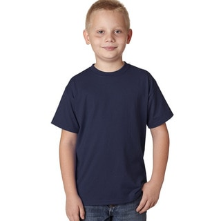 Hanes X-Temp Boys' Blue Cotton and Polyester Short-sleeve Performance T-shirt