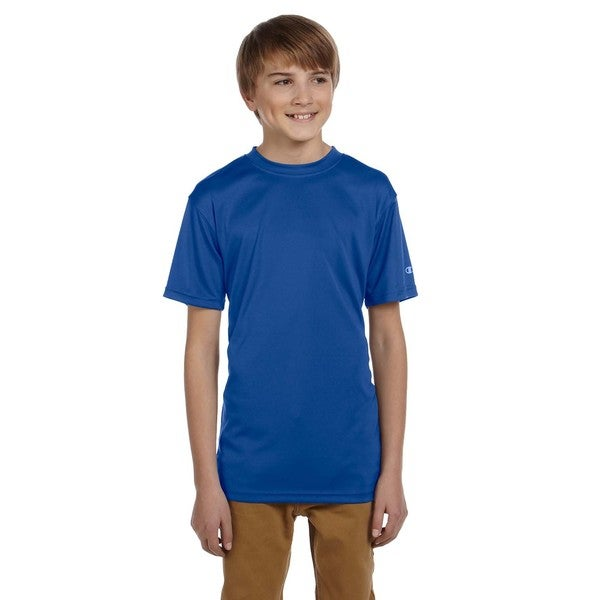 Champion Boys' Double Dry Royal Blue Cotton/Polyester T-shirt