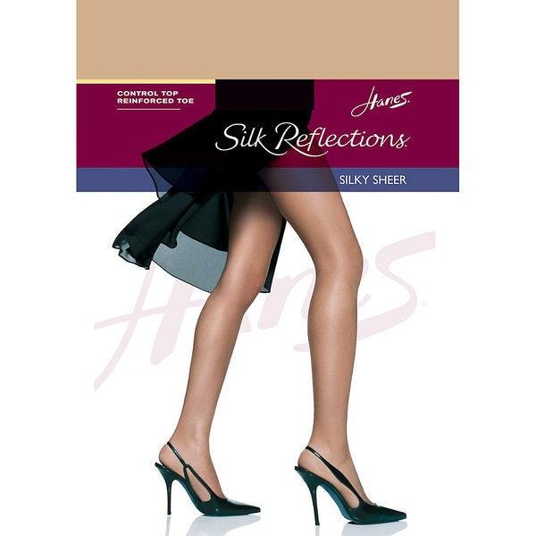 Silk Reflections Women's Nude Control Top Reinforced Toe Pantyhose 19468907