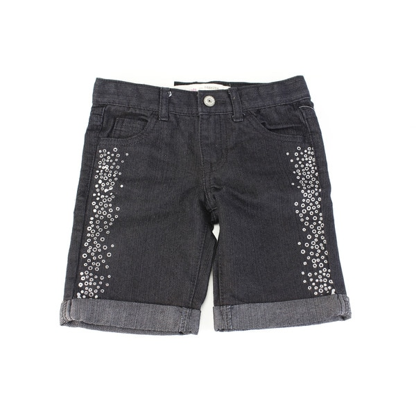 Epic Threads Baby Girls' Black Cotton Size 4T Shorts