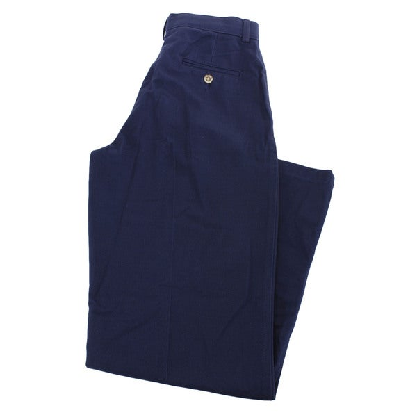 Nautica Boys' Blue Cotton Dress Pants
