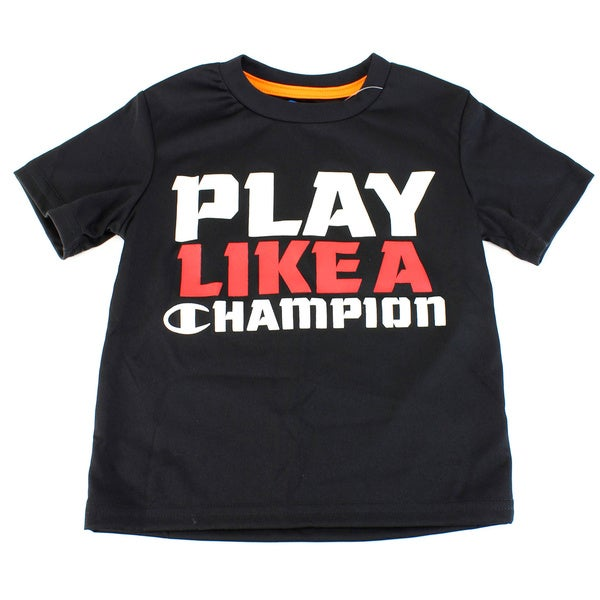 Black Champion Boy's Solid Black Top