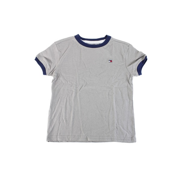 Tommy Hilfiger Baby Boy's Grey Cotton Short Sleeve Shirt
