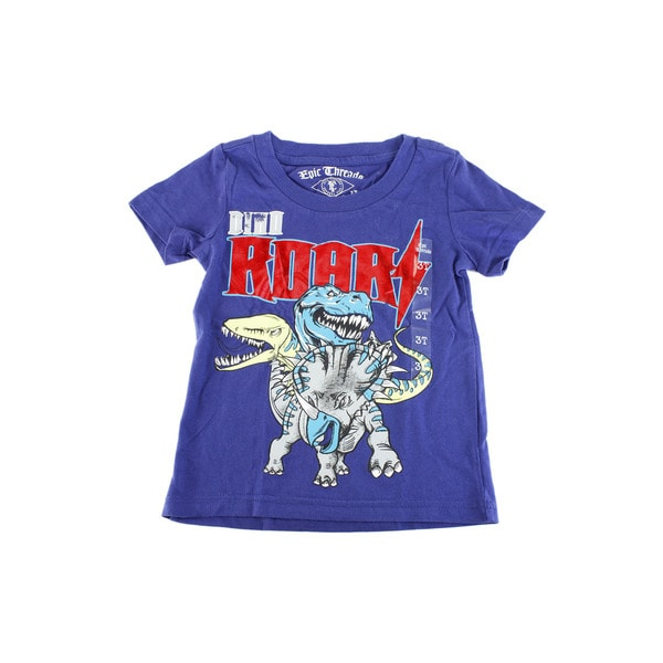Epic Threads Baby Boy's Blue Cotton Short Sleeve Shirt
