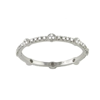 Beverly Hills Charm 10k White Gold 1/6ct TDW Diamond Stackable Eternity Band Ring (H-I, I2-I3)