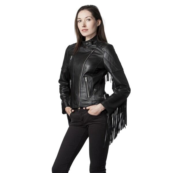 Mason & Cooper Black Leather and Lambskin Moto Jacket 19471173