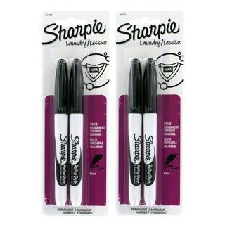Sharpie Rub-a-Dub Black Ink Fine-point Permanent Markers (Pack of 4)