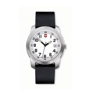 Victorinox Swiss Army Women's Field Collection Black Rubber and Stainless Steel Quartz Watch