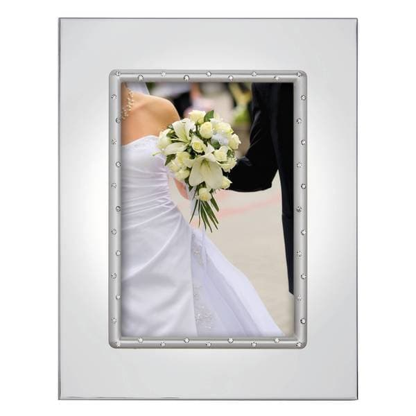 Aegean Rose Silver-plated Double Invitation 5x7 Frame