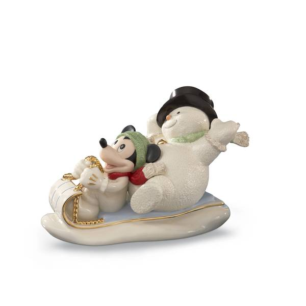 Snowy Day With Mickey Figurine