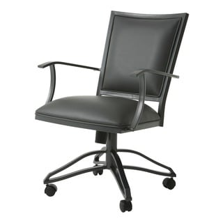 Homestead Powder-coated Steel and Polyurethane Caster Chair