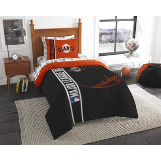 MLB 845 SF Giants Twin 5-piece Bed in a Bag with Sheet Set