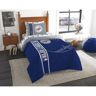 MLB 845 Dodgers Twin 5-piece Bed in a Bag with Sheet Set